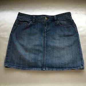J. CREW Denim Mini Skirt Size Medium